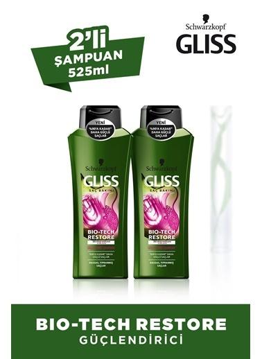 Schwarzkopf Gliss Bio-Tech Güçlendirici Şampuan 525 Ml X 2 Adet Renksiz